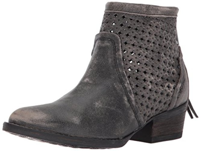 Very Volatile Women's Namaste Ankle Bootie, Charcoal, Size 6.0