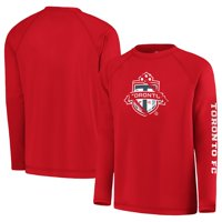 Toronto FC Fanatics Branded Youth Vital to Success Long Sleeve Raglan T-Shirt - Red