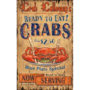 Red Horse Arts Crab Calloway Vintage Advertisement Plaque
