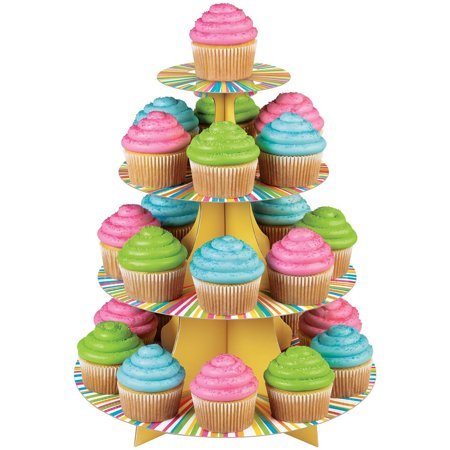 Wilton Halloween Cupcake Stand (1512-0726 Treat Stand Color Wheel Cupcake Stand, Holds 25 cupcakes By)