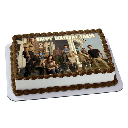 The Walking Dead Quarter Sheet Edible Photo Birthday Cake Topper. ~ Personalized! 1/4 Sheet  (Halloween Cake Walk Printable)
