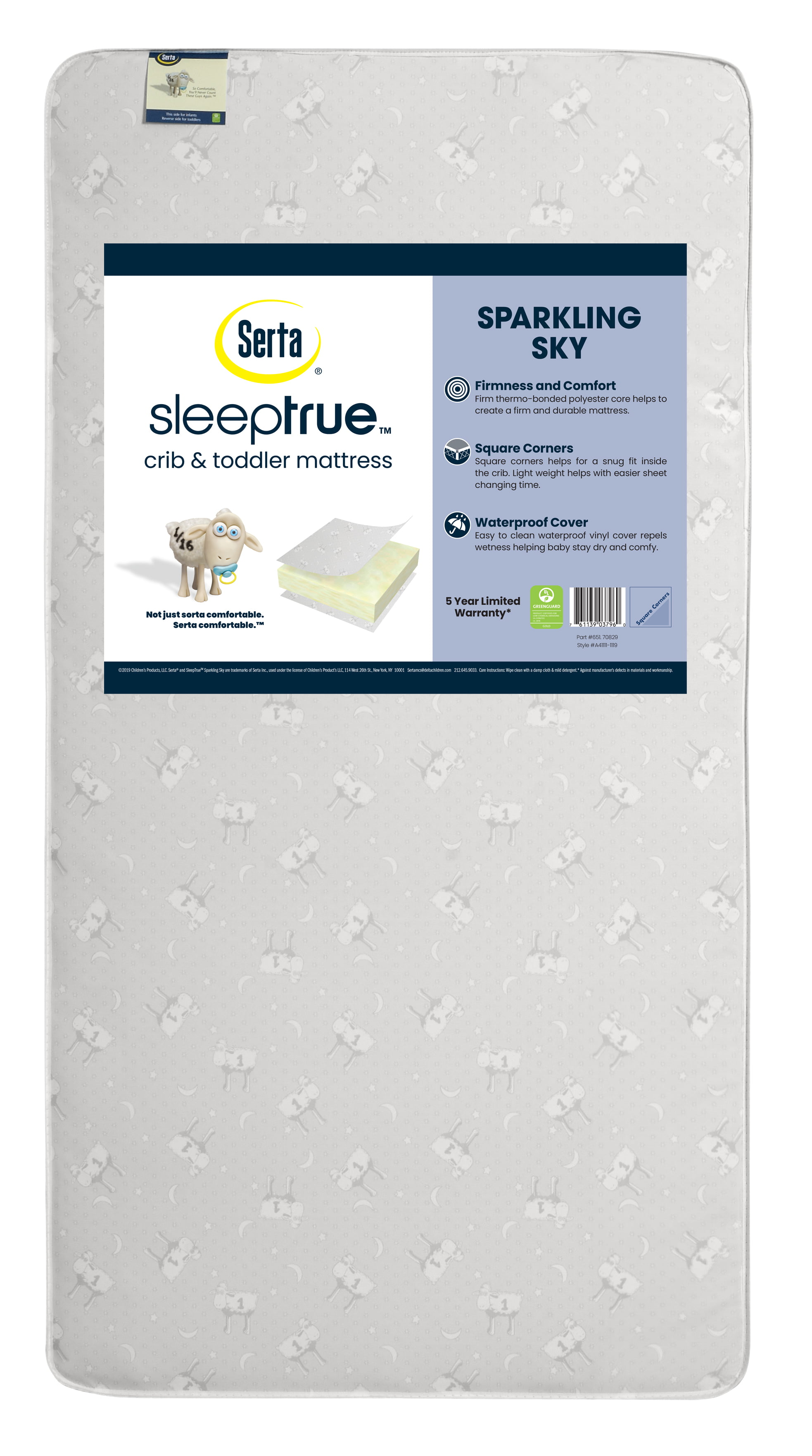 Serta Perfect Start Fiber Core Crib and Toddler MattressWaterproof