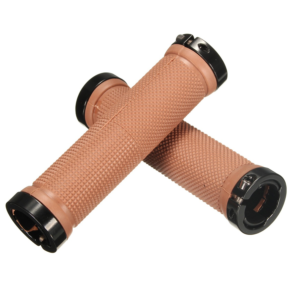 Rubber + Aluminnum Alloy Lock-on Nonslip Bike Bicycle MTB Cycling Handle Bar Set Grip Handlebar Grips &amp 10 Colors