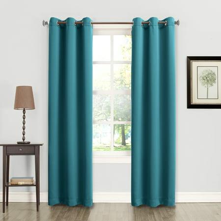 No. 918 Energy 2-Pack Room Darkening Grommet Curtain Panel Pair 2.4 Ghz Flat Panel