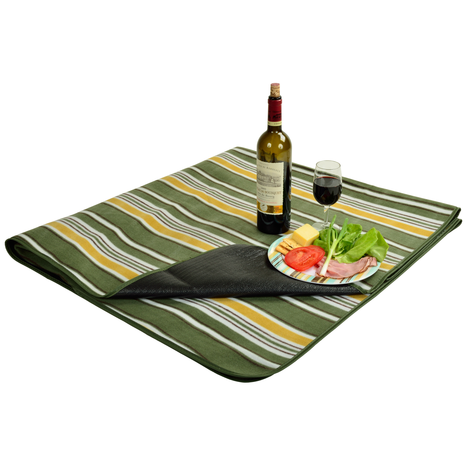 Picnic at Ascot Fleece Picnic Blanket with Tote (212-GS)