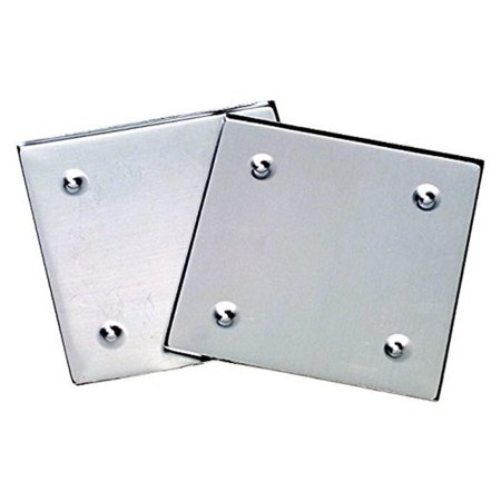 Diamond Tech International 1289932 Metal Mosaic Tile Raised Edge Square Coaster Base, 5.5 x 5.5 in., Silver Metal Diamond Tile