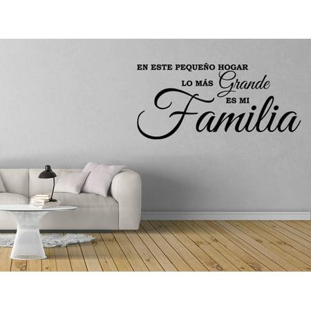 Vinilo Decorativo Para Pared Lo Más Grande Es Mi Familia SQ92