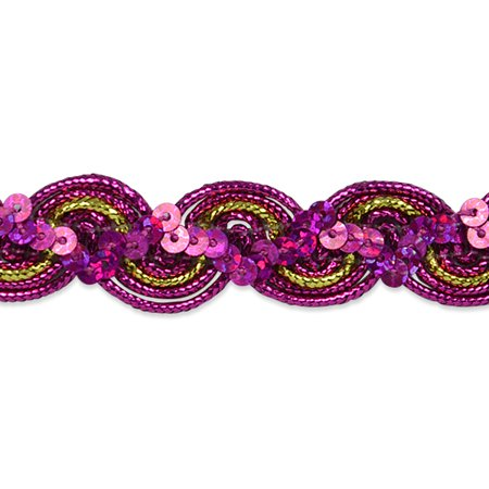 Expo Int'l 10 yards of April Sequin Metallic Braid Trim - Halloween And Party Expo