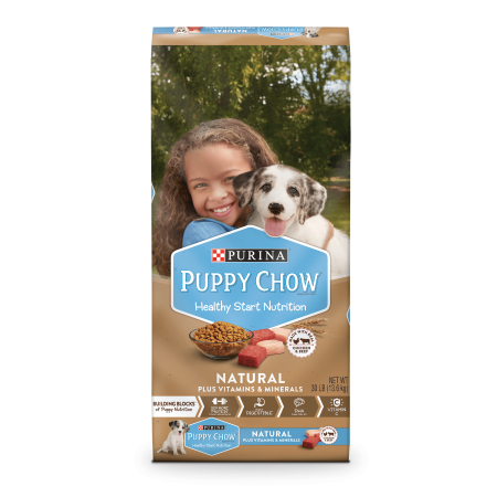 Purina Puppy Chow Natural With Real Chicken & Beef Plus Vitamins & Minerals Dry Puppy Food - 30 lb. - Reindeer Chow