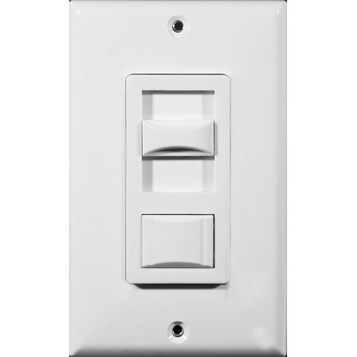 Morris Products Fluorescent Single Pole Dimmer in White