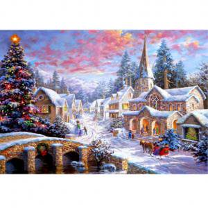 Fancyleo DIY Full Drill Snow Diamond Painting 5D Embroidery Cross Crafts Stitch Home Decor