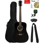 Fender FA-115 Dreadnought Acoustic Guitar - Black w/ Gig Bag