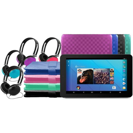 Ematic 10  16Gb Tablet Android 5 1  Lollipop  With Keyboard Folio Case And Headphones