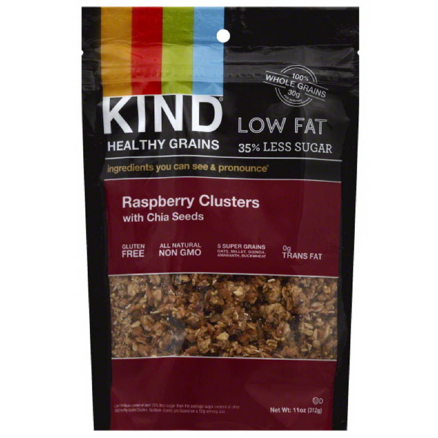 KIND Healthy Grains Raspberry Clusters with Chia Seeds, 11 oz, (Pack of 6)