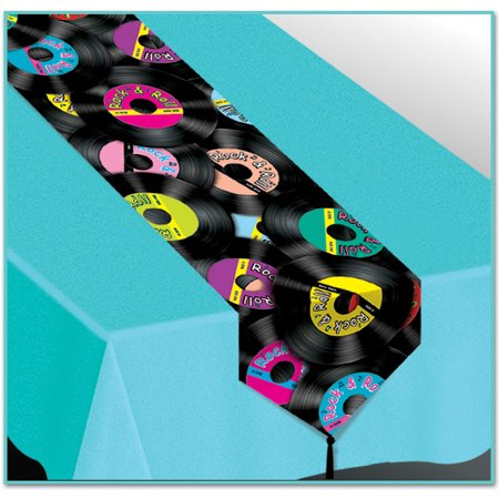 Printed Rock & Roll Table Runner (Pack of 12)