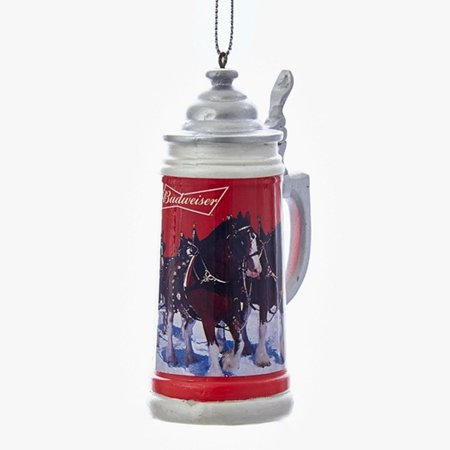 """Pack of 12 Happy Hour Anheuser Busch Budweiser® Stein Beer Mug Christmas Ornaments 4"""""""