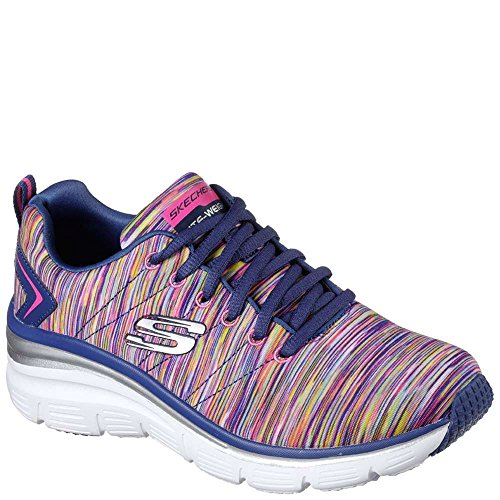 Skechers Fashion Fit Art Rage Womens Sneakers Navy/Multi 9.5