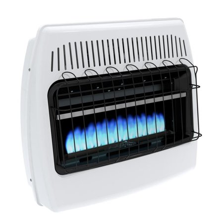 Propane Space Heater Wall Mount Heating Vent Indoor Home Garage Cabin Blue Flame Propane Wall Mount