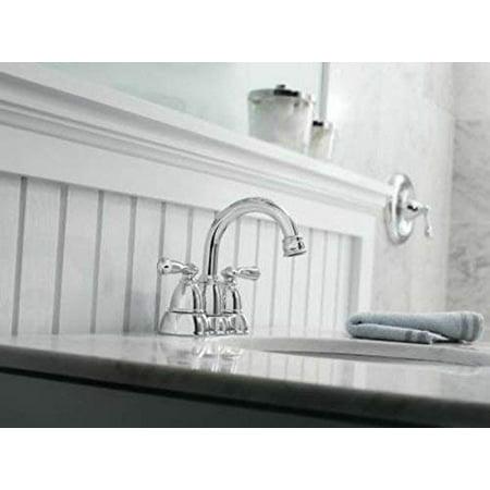 Moen Ws84913 Banbury Two Handle High Arc Bathroom Faucet Chrome