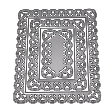 All clearance Multi-layer Hollow Square Flower Frame Scrapbooking Dies (Square Frames Cuttlebug Die)