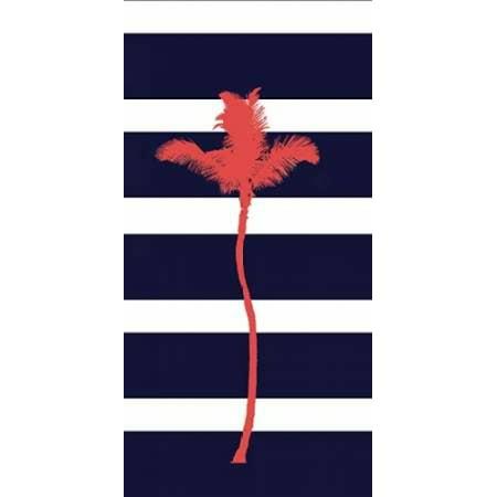 Indigo Stripe Palm Poster Print by  Ramona Murdock ()