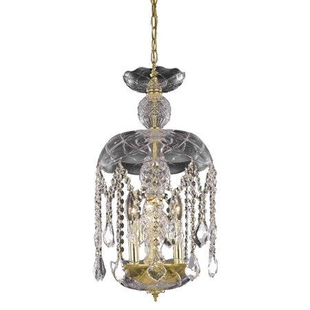 Rococo 3 Light Crystal (Clear) Pendant in Gold Finish 7803D11G/RC