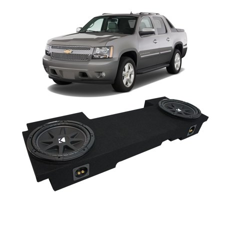 "02-13 Chevy Avalanche Underseat Kicker Comp C12 Dual 12"" Sub Box New Final 2 Ohm"