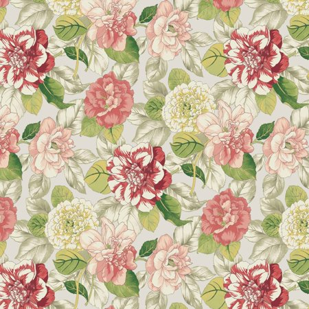 "Waverly Inspirations Cotton Duck 45"" Garden Coral Fabric, per Yard"
