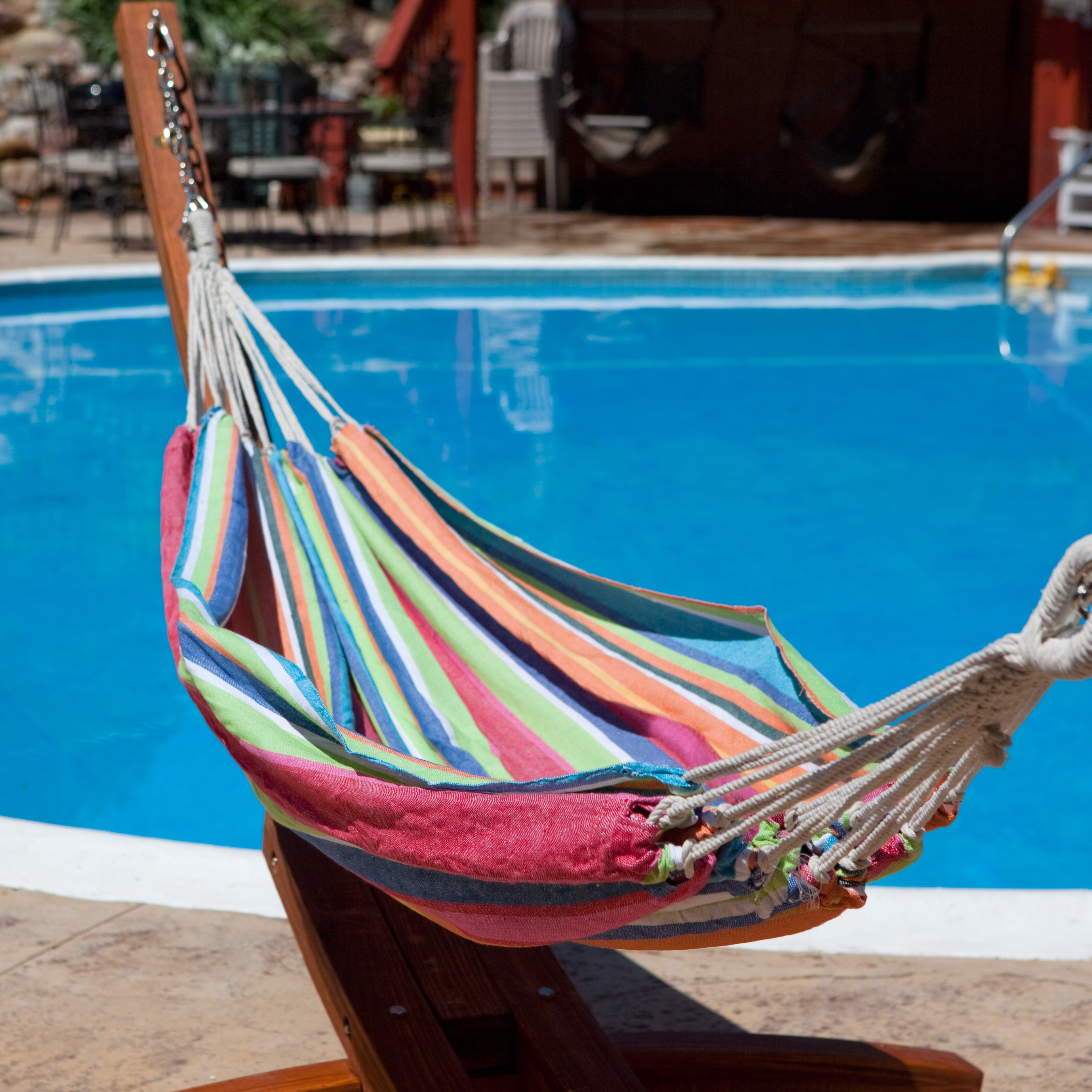 Bliss Hammocks Oversized Double Hammock in a Bag Tropical Fruit