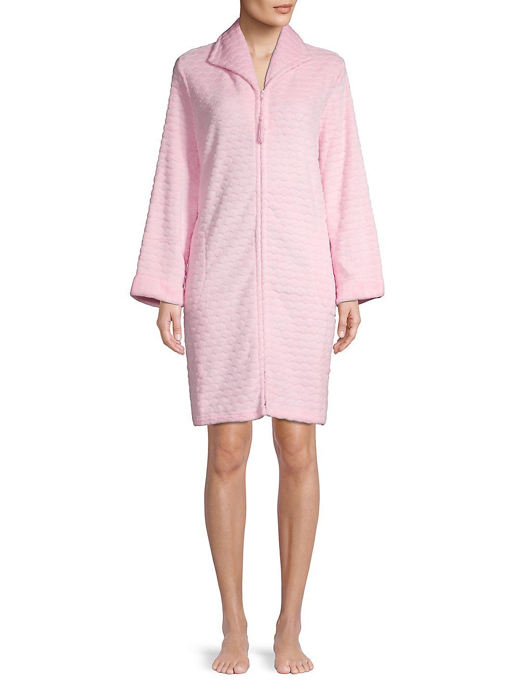 Fleece Zip Front Sleep Dress