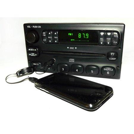 Ford Ranger 2000-2003 AM FM CD Radio w Aux mp3 3.5mm iPod Input - YW7F-18C815-CA - Refurbished ()