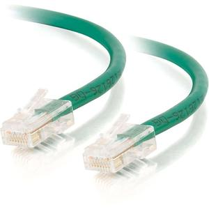C2G-14ft Cat5E Crossover Unshielded UTP Network Patch Cable Green 26702
