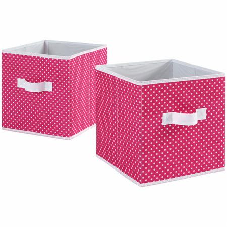 - Mainstays Fabric Cube Storage Bins (10.5