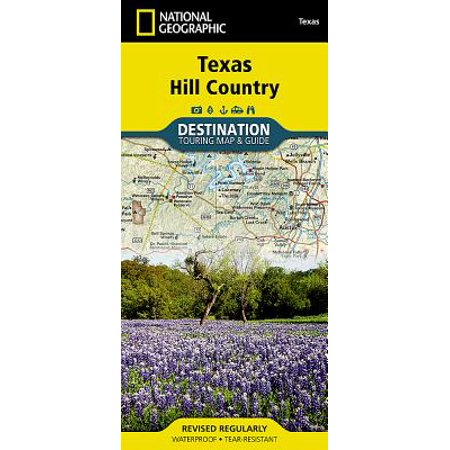 Texas hill country destination touring map & guide: (Most Beautiful Places In Texas Hill Country)