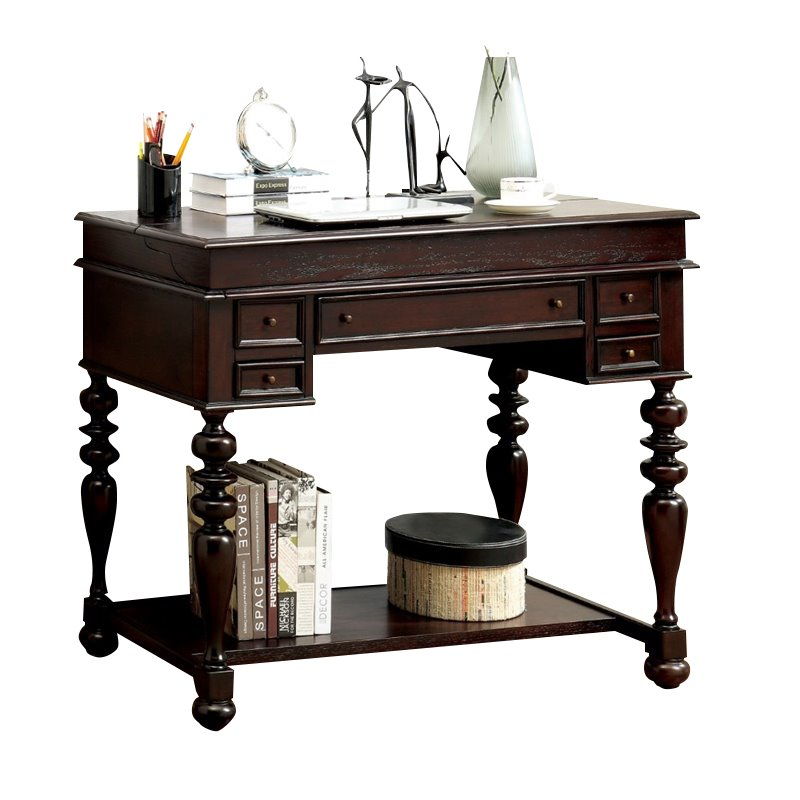 Furniture of America Stefan Secretary Desk in Espresso