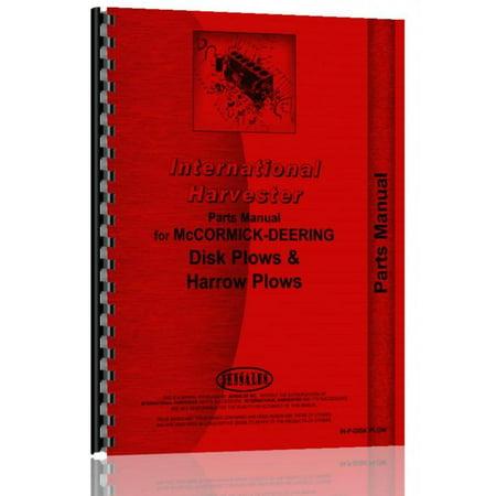 International Harvester AX-151 Disk Plow Parts Manual Plow Parts Manual