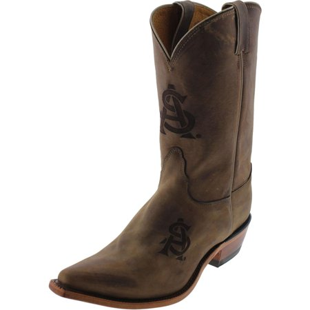 - Nocona Boots Womens Arizona State Leather Branded Logo Cowboy, Western Boots