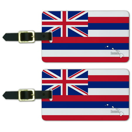 Graphics and More Hawaii HI Home State Luggage Suitcase ID Tags Set of 2 - Flag