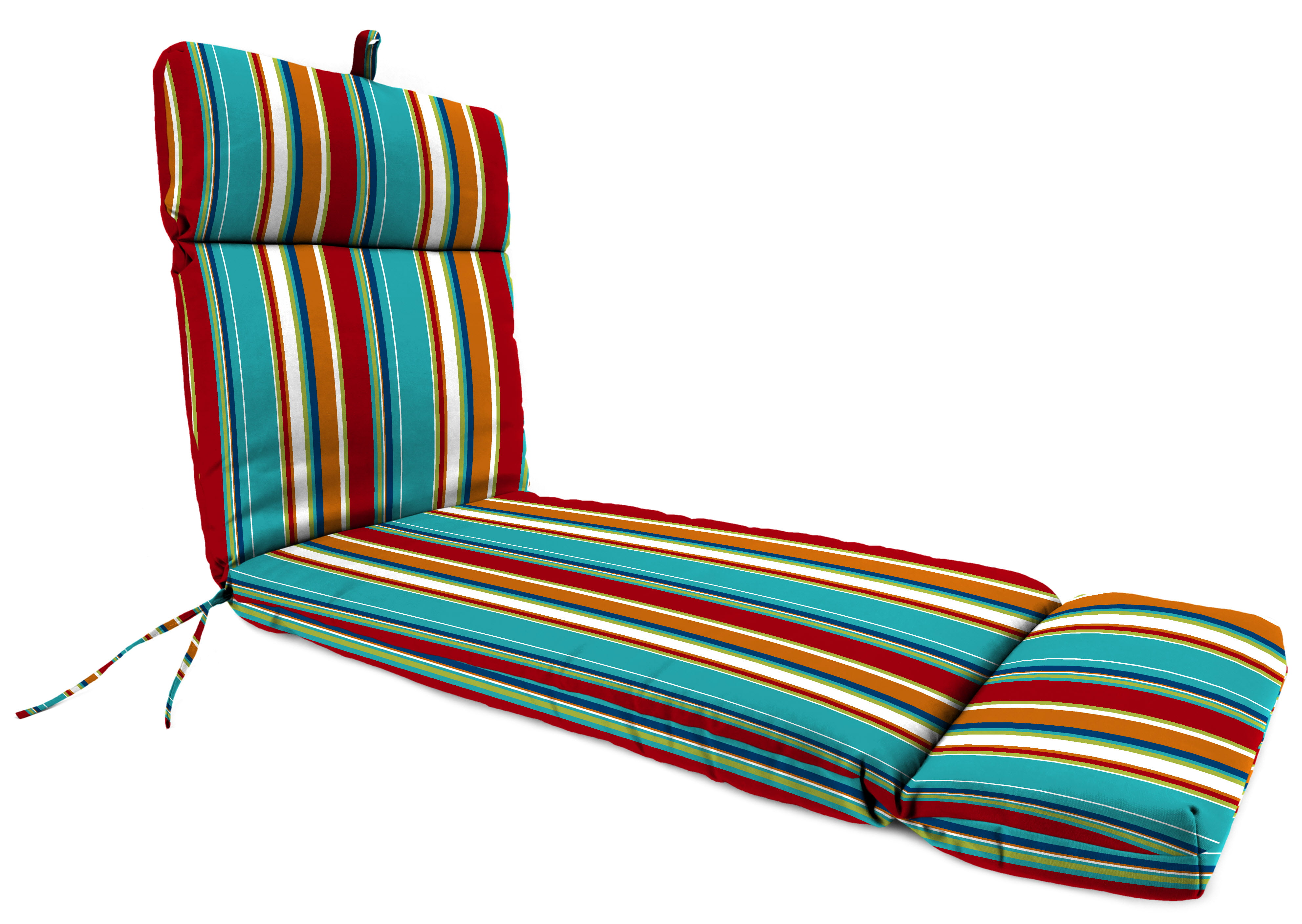 Shades of Blue Collection 72 x 22 Outdoor Chaise Lounge Cushion Choose Style