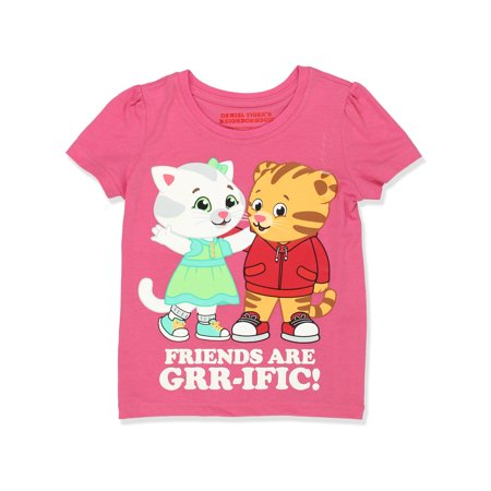 Daniel Tiger Toddler Girls Short Sleeve Tee DTST047 (Daniel Tiger Dress)