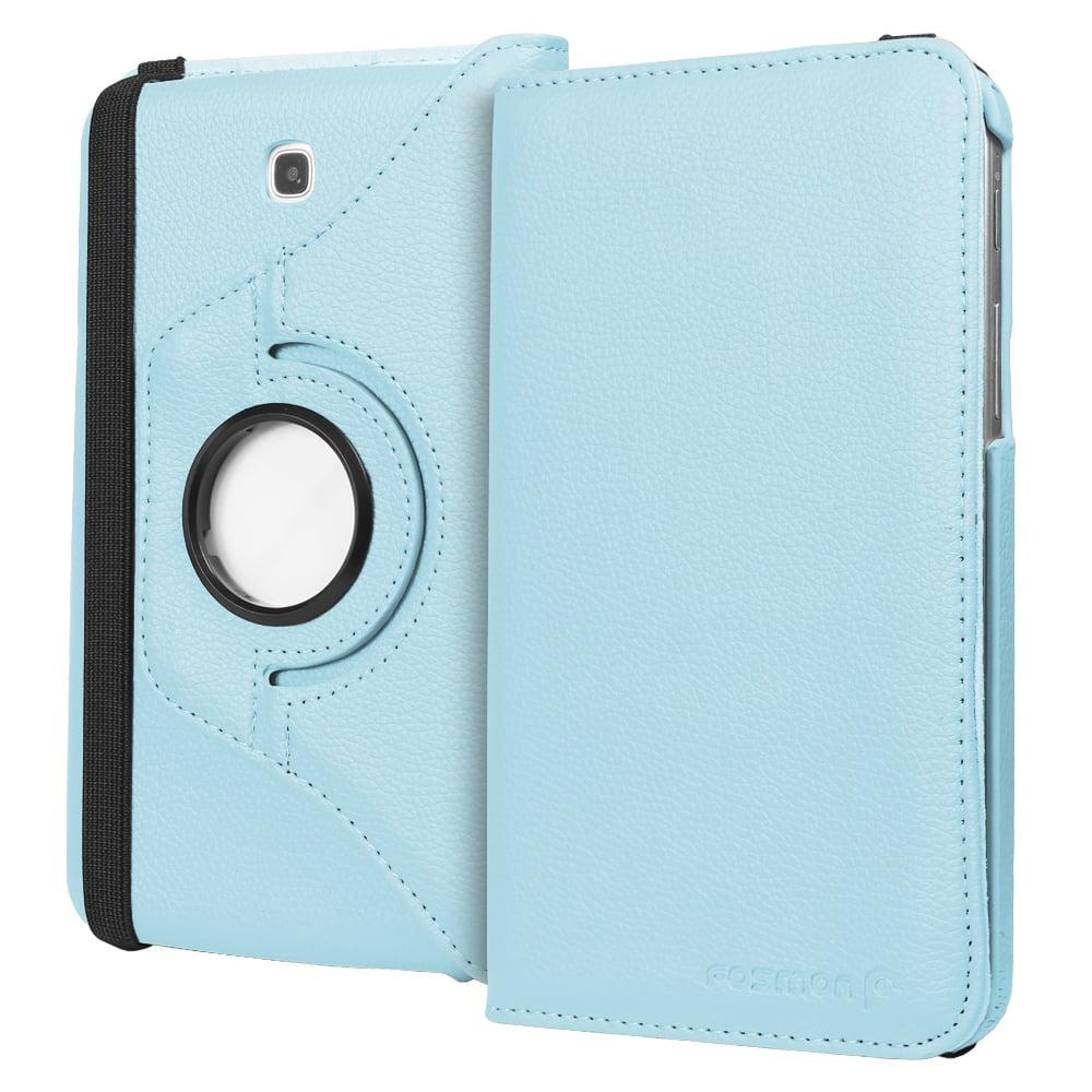 Fosmon GYRE Series Revolving Leather Case for Samsung Galaxy Tab 3 7.0 - Sky Blue