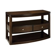 Standard Furniture Spencer Half Moon TV Console in Cherry