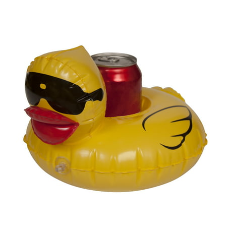 Derby Duck Inflatable Pool Float Cup Holders, 4-pack