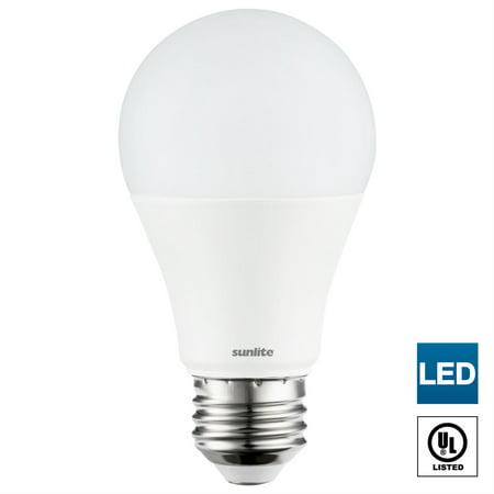 Sunlite LED A19 Light Bulbs Non-Dimmable, 14 Watt (100 Watt Equivalent), Medium (E26) Base, 1500 Lumen 65K - Daylight 100 Watt R40 Medium Base