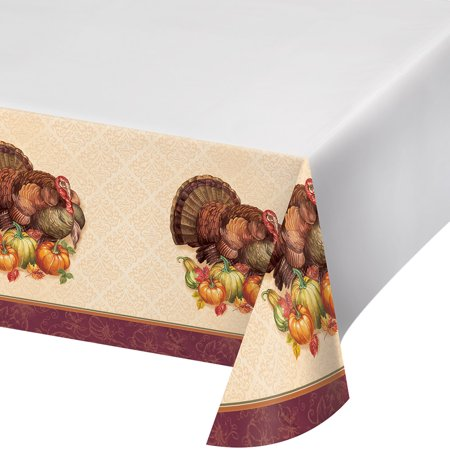 Thanksgiving Turkey Plastic Tablecloth](Thanksgiving Paper Tablecloths)
