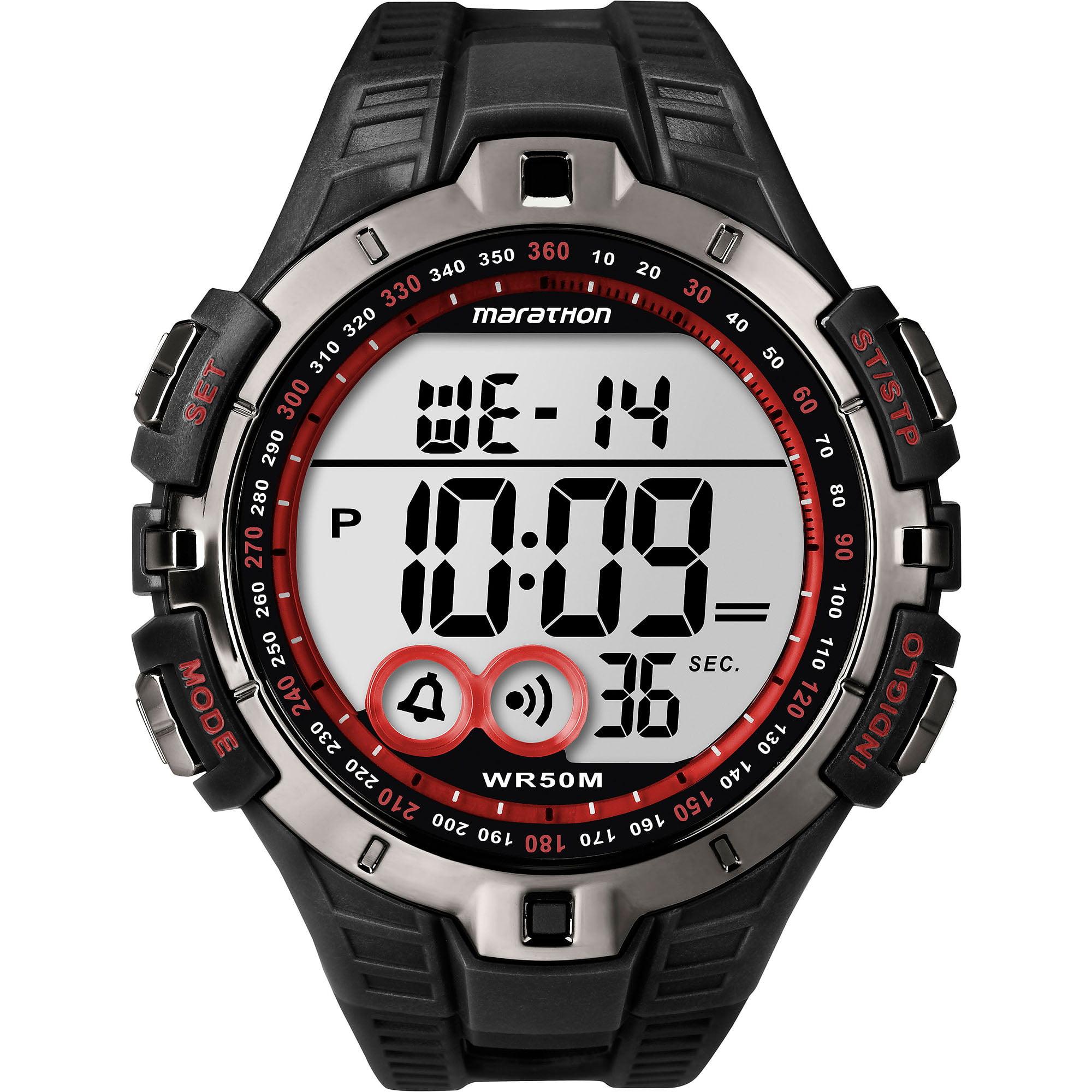 Marathon by Timex Men's Digital Full-Size Watch, Black Resin Strap