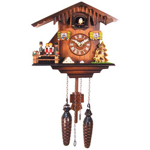 8 Inch Black Forest Woodchopper Family Cuckoo Clock by Alexander Taron
