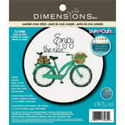 Dimensions Learn-A-Craft Counted Cross-Stitch Kit, Enjoy the Ride
