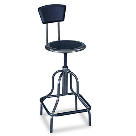 Safco Products 6664 Diesel High Base Stool with Back, Pewter