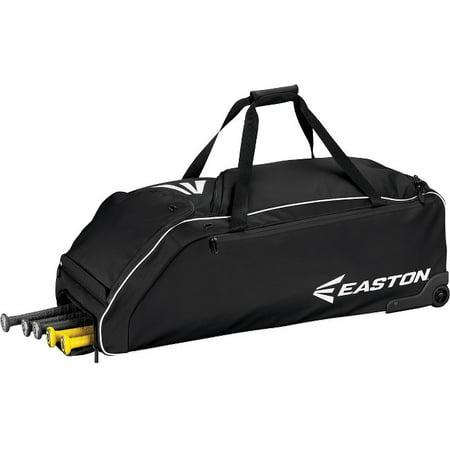 Easton Baseball Tote (Easton E610W Black Wheeled Baseball Bat Bag)